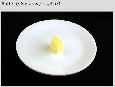 butter - 200 calories