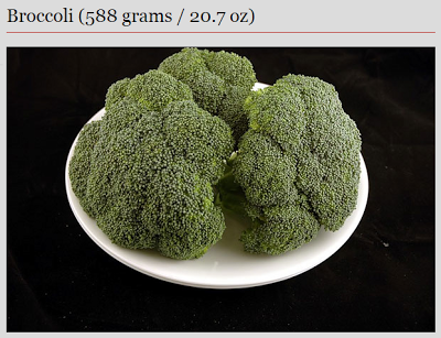 broccoli - 200 calories
