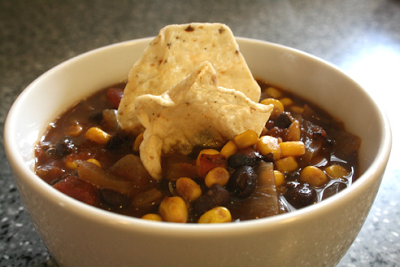 southwestern black bean corn chowder