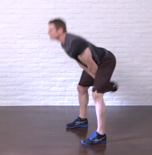 kettlebell swing - down position