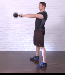 kettlebell swing - up position