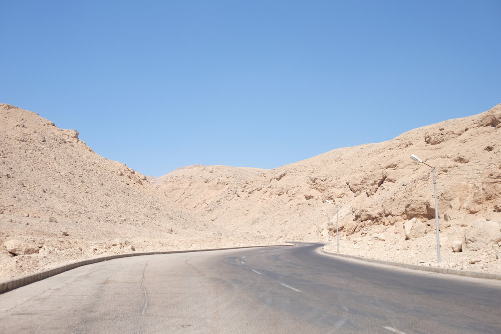 Road leading to the Valley of the Kings
