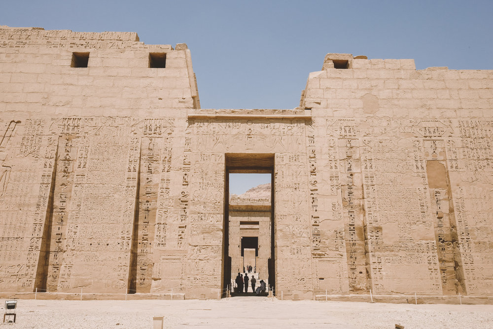 Medinet Habu, the mortuary temple of Ramesses III