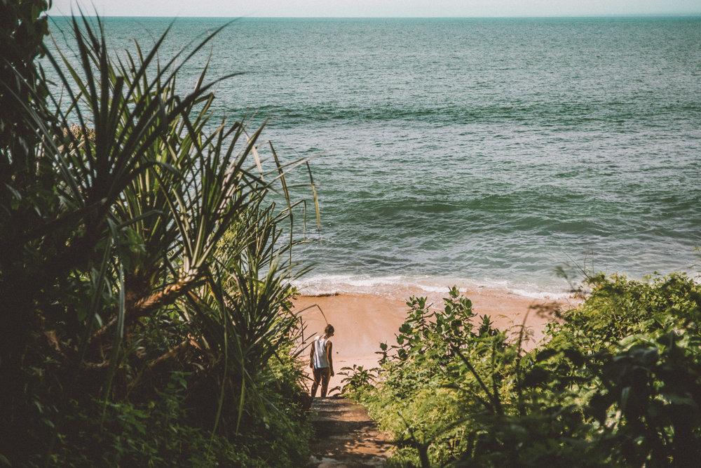 Steps to the private beach