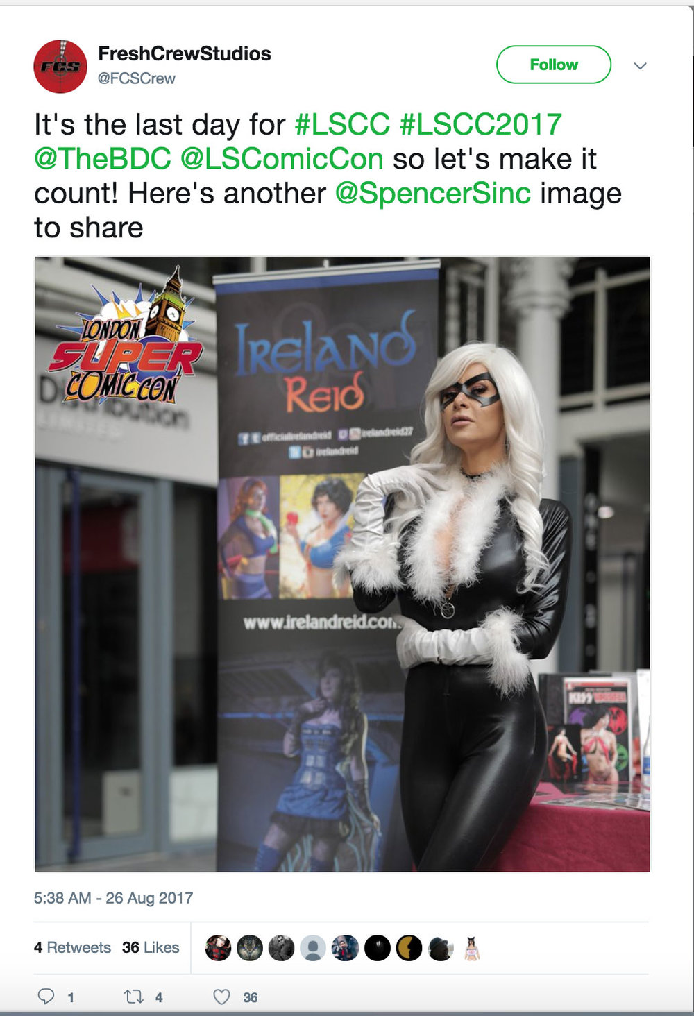 FreshPass image captured and used at London Super Comic Con
