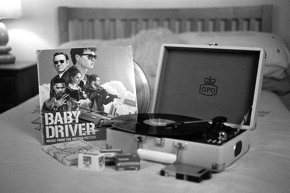 Baby Driver Vinyl and Record Player