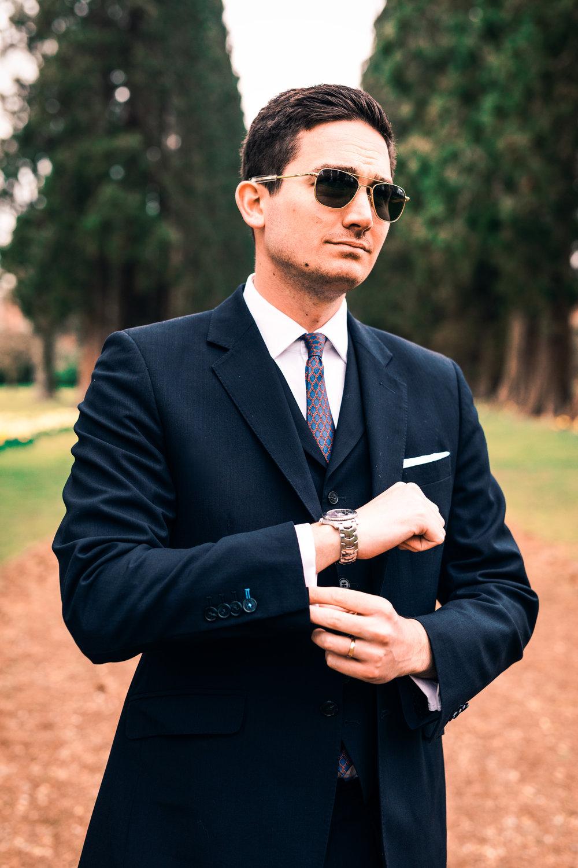 Contemplating - Modern Male Fashion Portrait