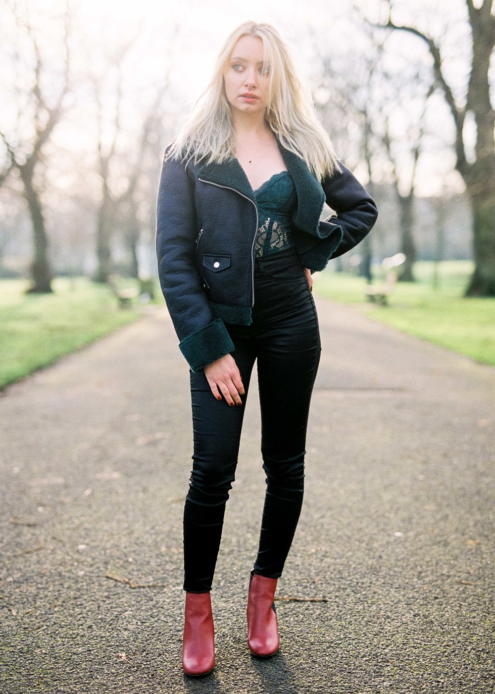 Leather Leggings in the Park