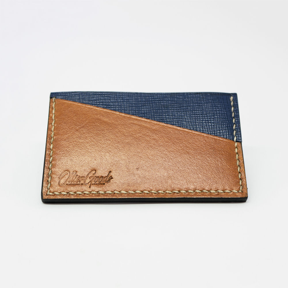 Blue Bifold Leather Wallet