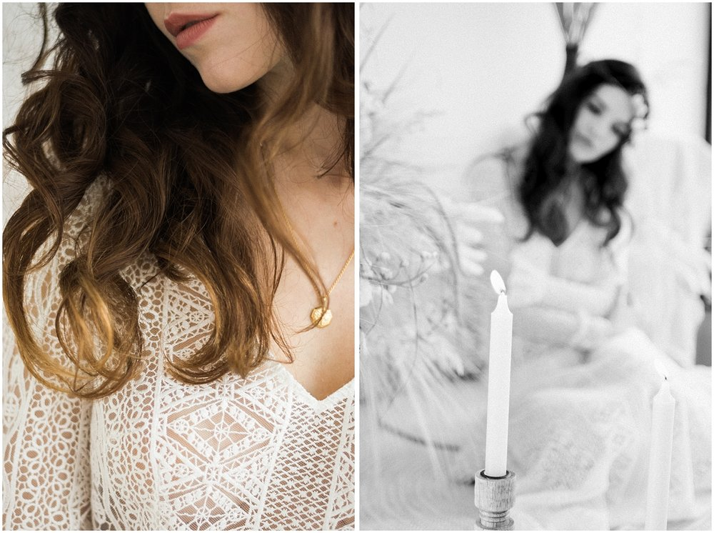 intimate bride portraits