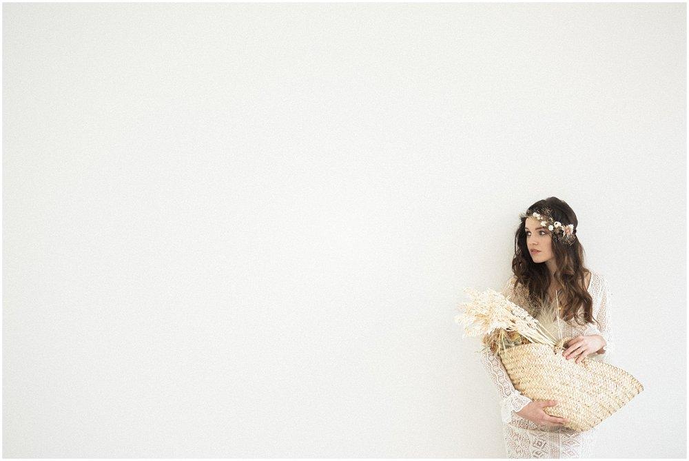 minimalist bride portrait