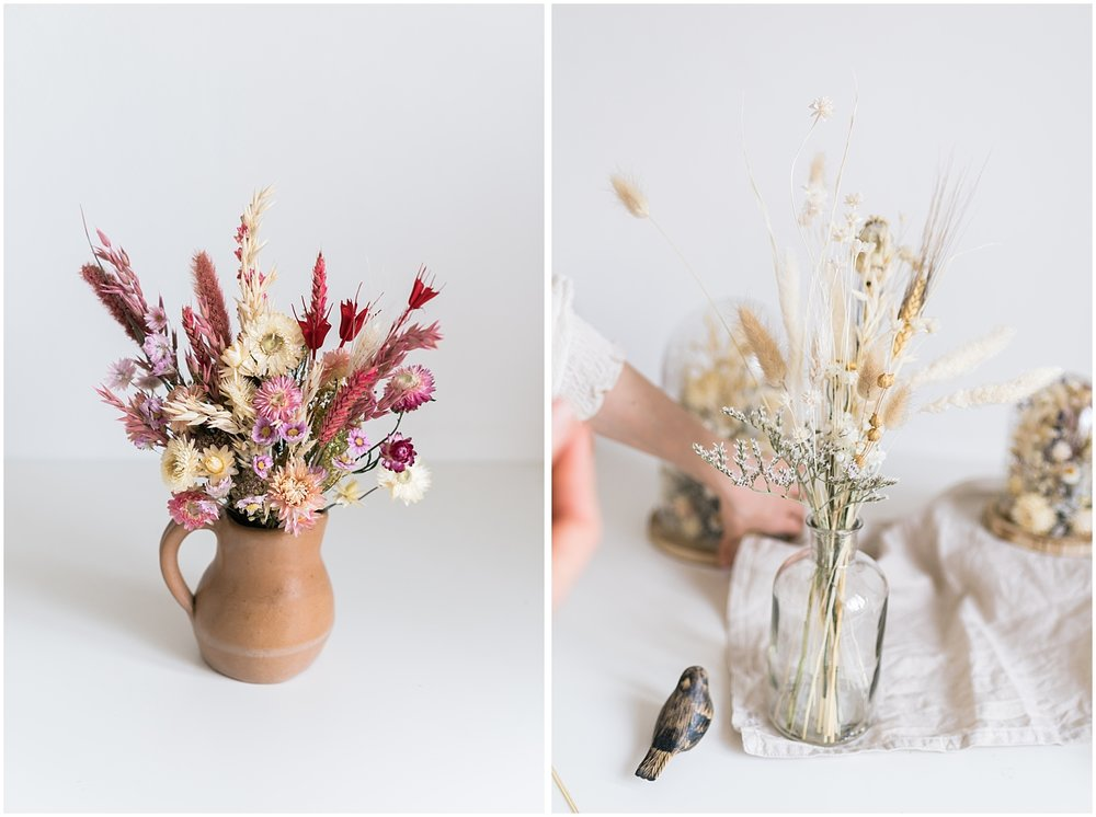 Bouquet and floral setup from atelier prairie paris