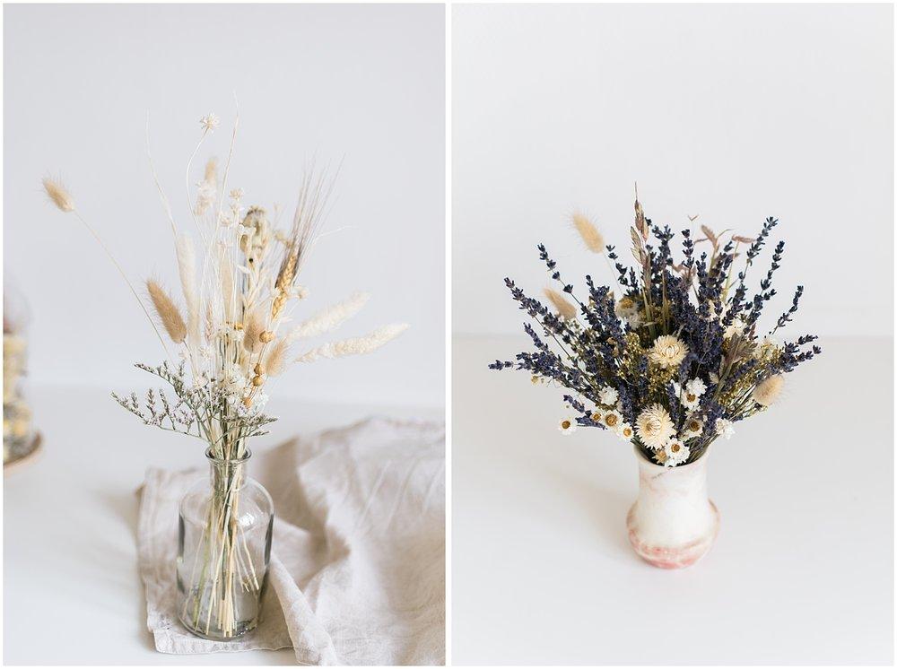Floral dried details Parisian workshop