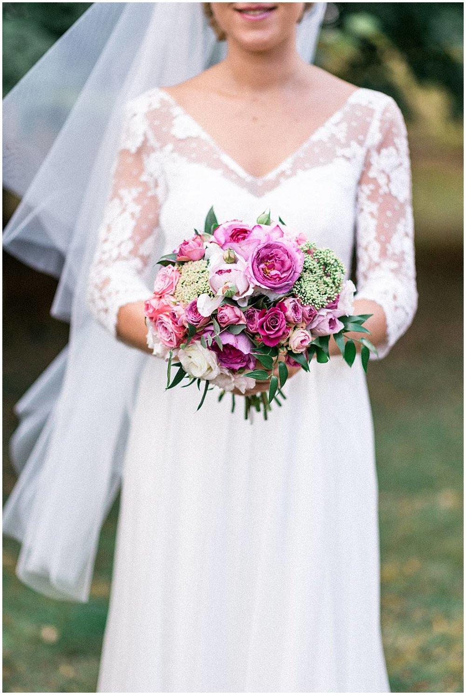 Bridal bouquet in a wedding in Reims