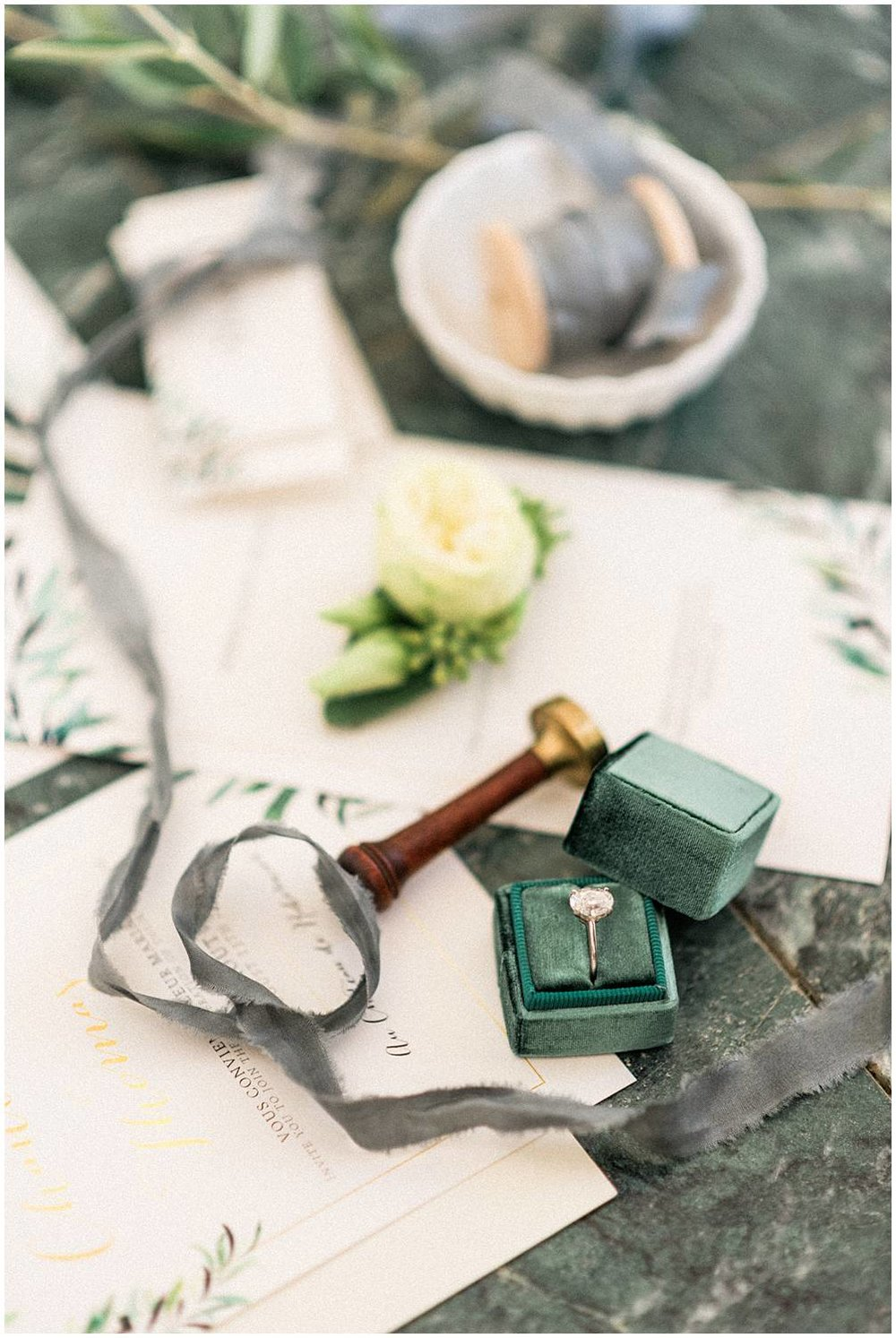 Stationery and details from wedding in provence, chateau de Robernier