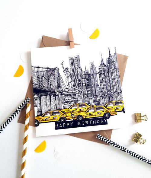 New York Birthday Card Main