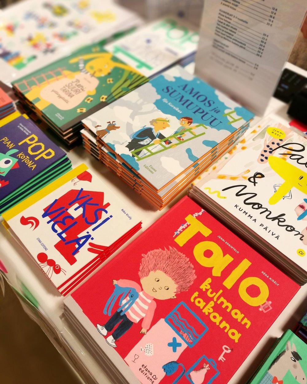 Etana Editionsin lastenkirjoja.