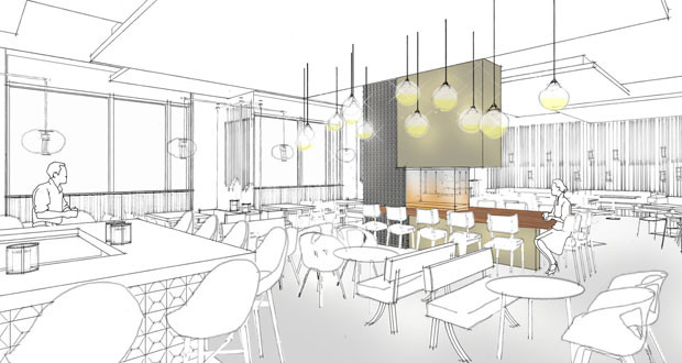 A restaurant concept rendering from The Four Seasons