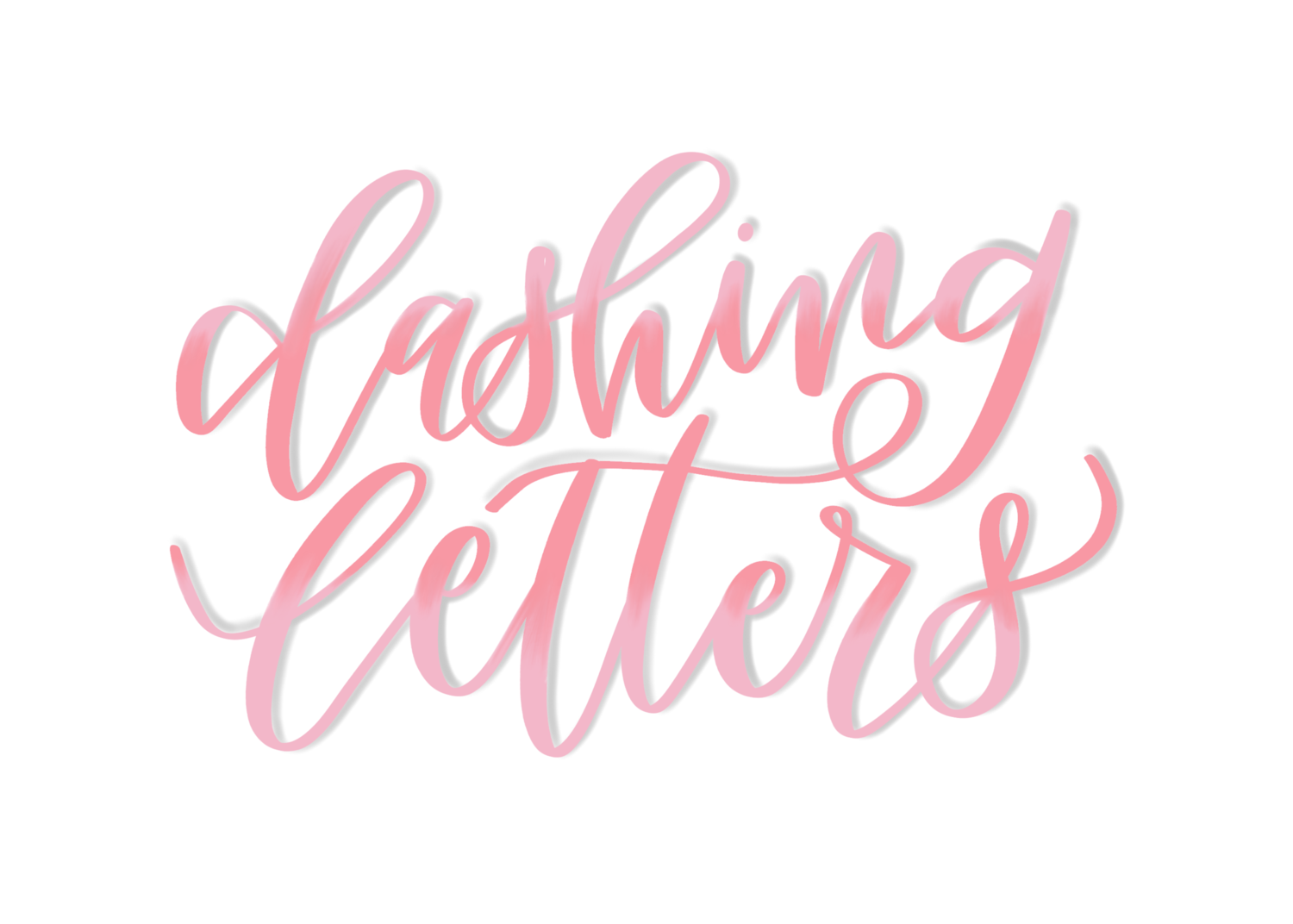 Dashing letters