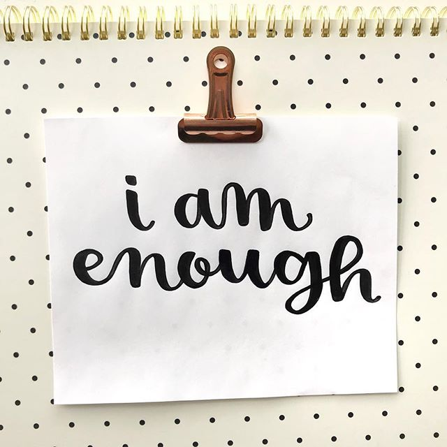 My best friend sent me a transforming podcast a few weeks by @lewishowes and @marisapeertherapy. Since hearing this episode I have really began challenging my thoughts, especially the negative ones. It takes time to master this, but for now #iamenough and so are you!  What is your favorite podcast? . . . . . #podcasts #lewishowes #lewishowespodcast #podcastquotes #inspiringquotes #letteringdaily #tombowdualbrushpens #brushlettering #tnchustler #createdtocreate