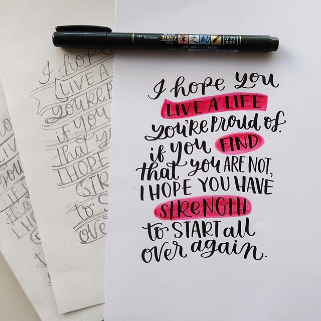 What is your first lettering step? For me I always start with my handy dandy pencil and create a rough sketch. Once I have an idea of the layout, I create a more detailed and thoughtful sketch. I spend time adjusting strokes, since pencils leave room for error. My final step is create with pens, usually a brush pen since they are my favorite to use. For me Lettering is a process, and it's not a quick one. Spending time being intentional and creating from the heart ♥️ . . . . . #howtoletter #learncalligraphy #learnbrushlettering #brushletteringart #brushcalligraphyph #brushcalligraphypractice #tombowfudenosuke #plannerinspiration #createdtocreate