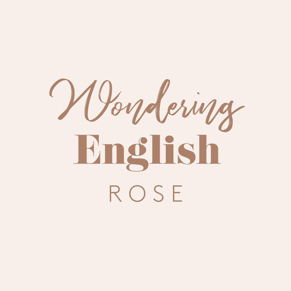 Wondering English Rose Logo Design