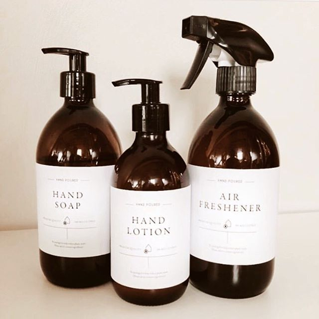 ✱ Really enjoyed creating these custom labels for the lovely @croxtonsmill 🌿 Wanting to reduce the amount of single use plastic in their building, the team have opted for some rather chic looking glass bottles that can be refilled when empty, but kept on brand with their own label designs. I wouldn't mind some of these in my own bathroom as I'm a little obsessed with this typeface and the swooshing Qs #designisinthedetails