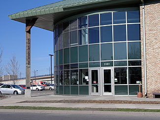 Phillips Eco Enterprise Center - The Phillips Eco-Enterprise Center (PEEC) is the result of a cumulative effort to reinvest in the Phillips neighborhood of Minneapolis. After the challenges of EPA superfund cleanup and an incinerator was prevented from being constructed in the area, the Green Institute was formed with community advocates to develop a commercial office space and light industrial facility to house organizations sharing visions for addressing environmental and social justice issues. The building helped pioneer green building and renewable energy approaches in Minnesota. The 34 kW solar electric system installed on the building is one of the largest in the state. This solar electric system allows the Green Institute to provide site-generated renewable energy for a portion of the power used by the tenants. Along with several integrated strategies, the PEEC is operated by the Green Institute and has continued to serve as a demonstration site for educating visitors about sustainable practices and clean energy production.