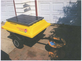 Solar Cart - A small solar trailer that packs a punch!