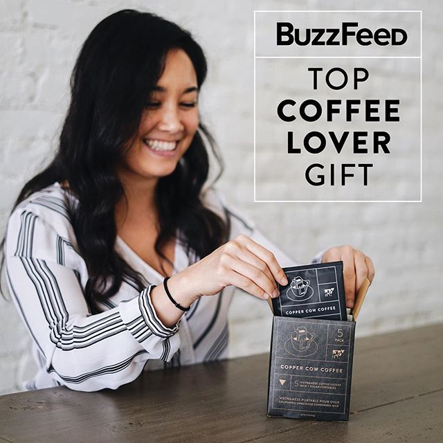Guys, Buzzfeed listed us as a top gift for the at home coffee lover ☕️😍. Link in bio.
