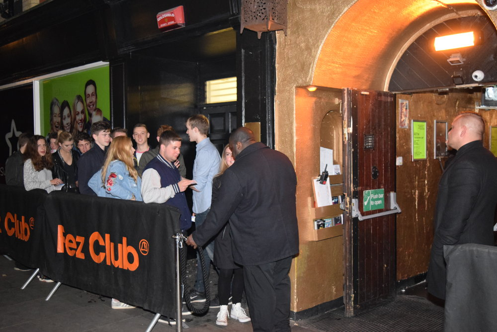 The renowned Fez Club, familiar to all clubbers in Cambridge