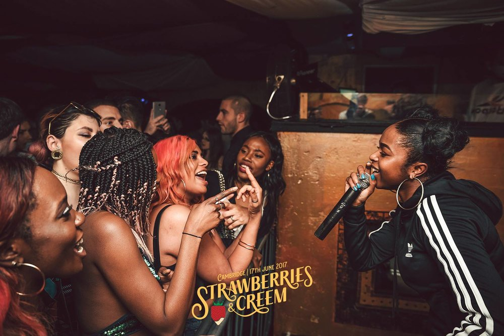 Nadia Rose entertains the crowds at Fez during our 2017 launch party