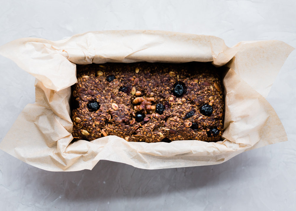 Cranberry Walnut Sprouted Oat & Seed Bread