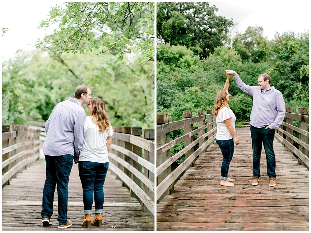I had so much fun exploring downtown Minneapolis with Ericka and Danny for their engagement session! We went to the Father Hennepin Bluff Park and the Stone Arch Bridge, both downtown Minneapolis and right next to each other!