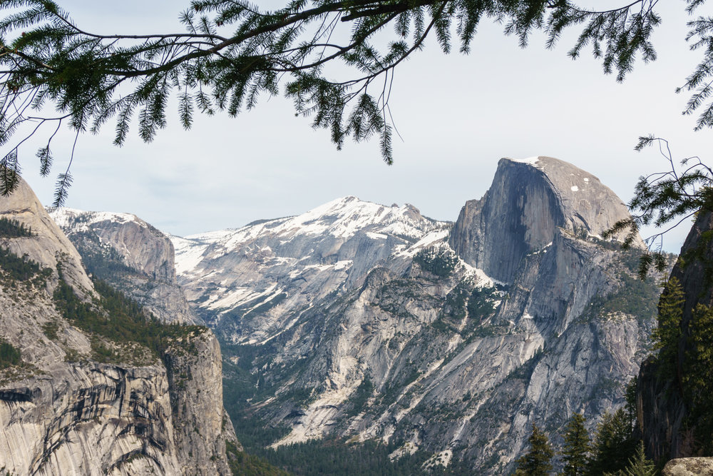 Half Dome from Union Point on the 4 mile trail