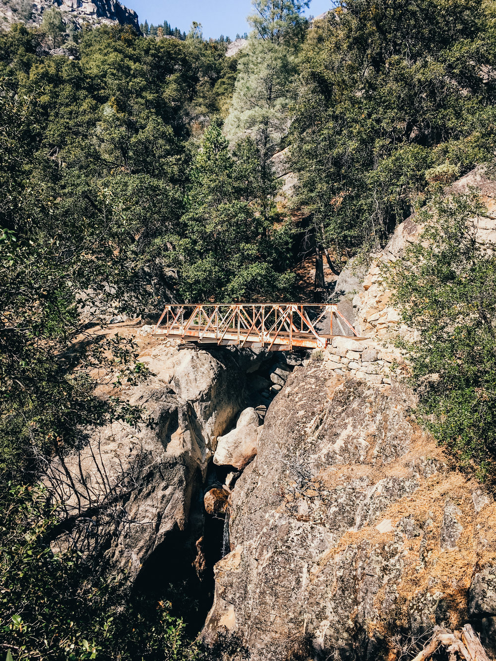 Footbridge near Rancheria Falls