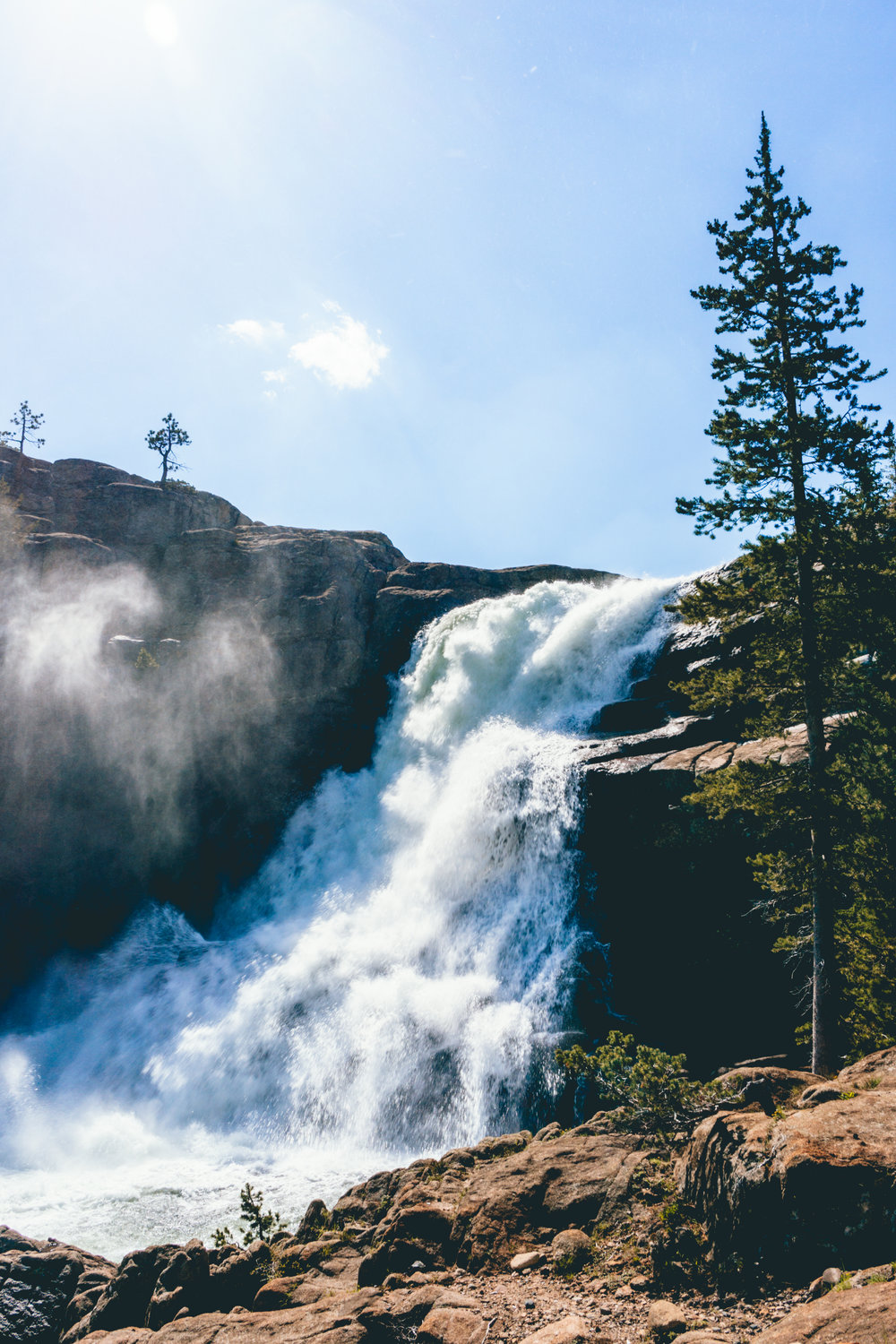 Tuolumne Falls along the PCT
