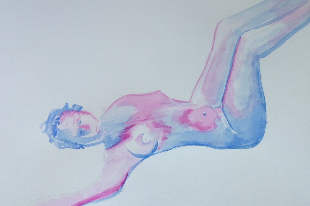 Figure Drawing - I have been part of a figure drawing group since 2014. I mostly paint nudes with water colors.