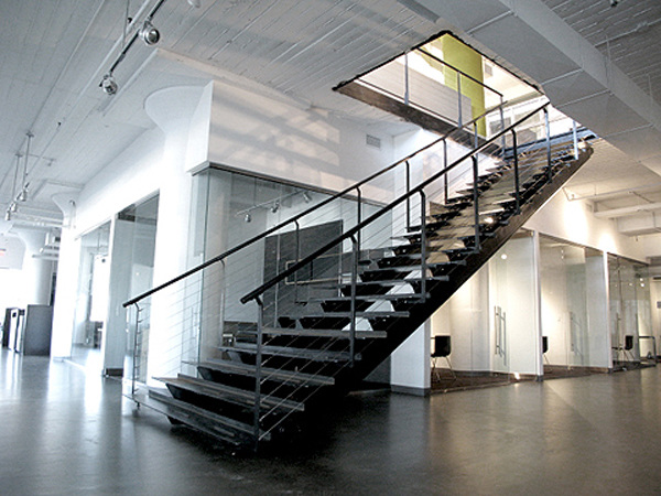 Concrete Tread Steel Stair