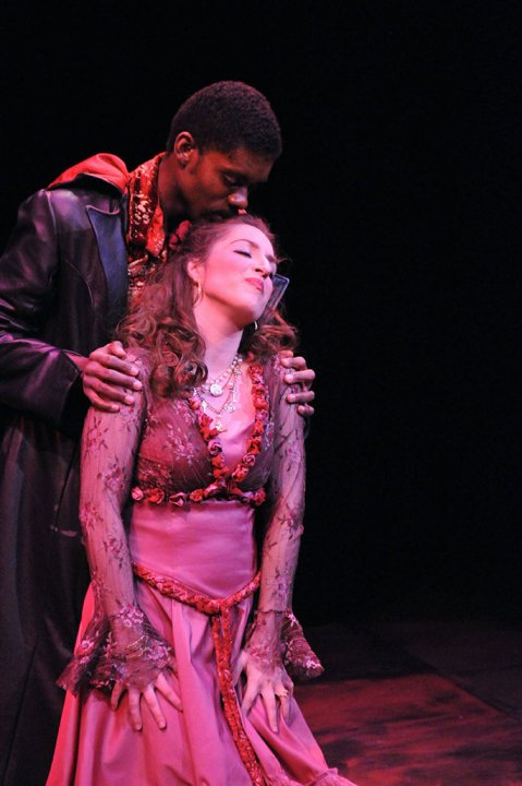 Ms. Worrell as Zerlina in  Don Giovanni  with baritone Jean Bernard Cerin.