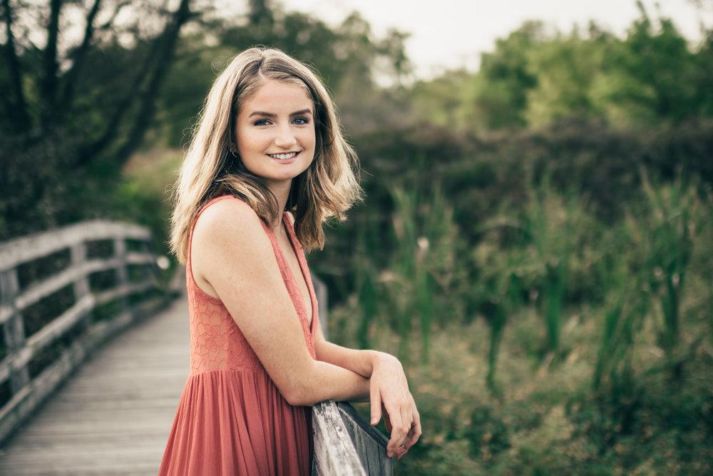 Senior posing at Marsh