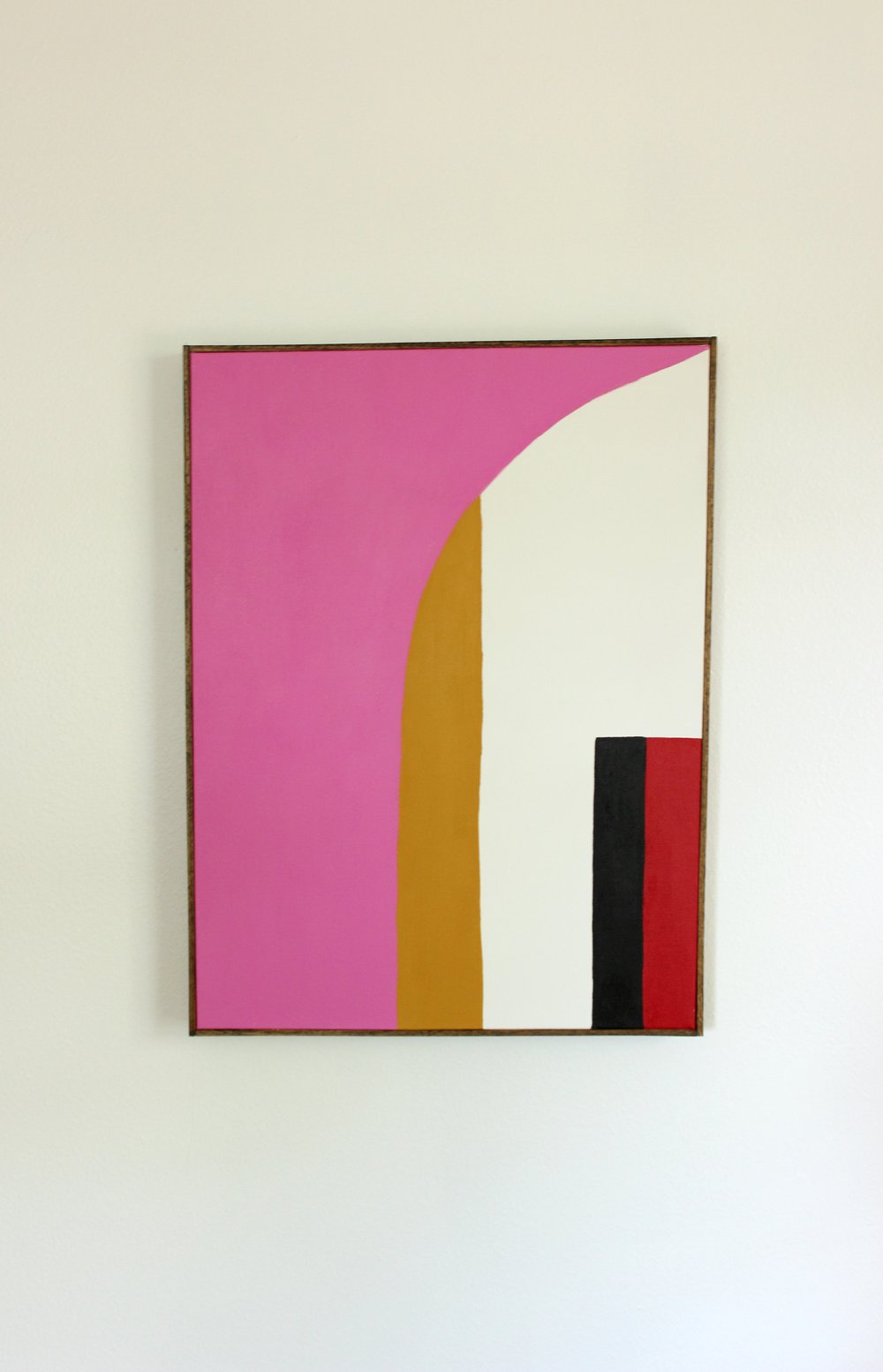 Untitled, 24 x 18 inches, acrylic on canvas, framed
