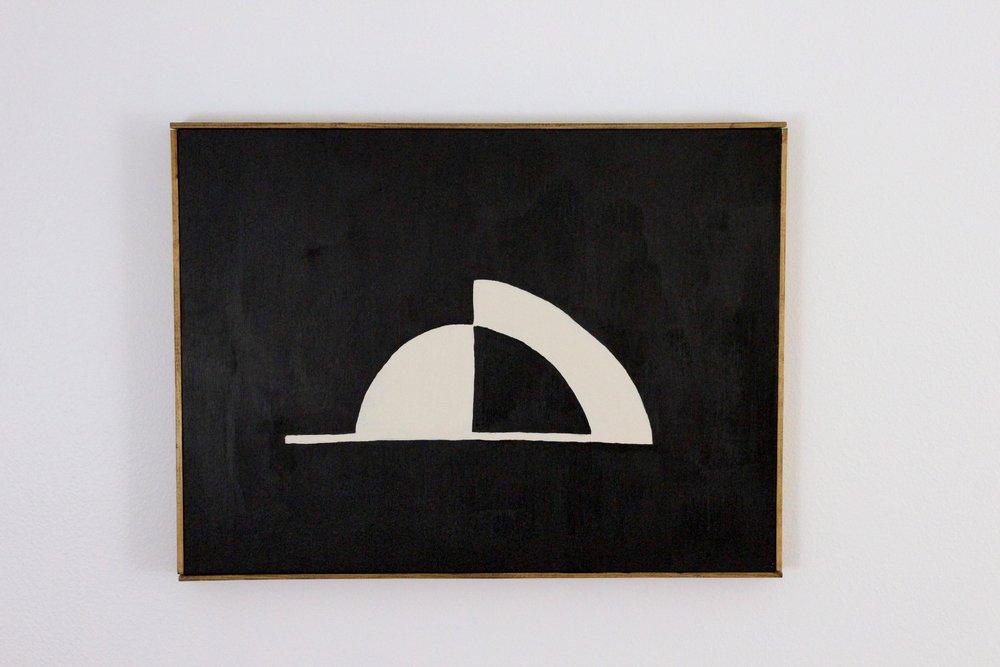 """Leveled"" 18 x 24 inches, acrylic on canvas, framed"