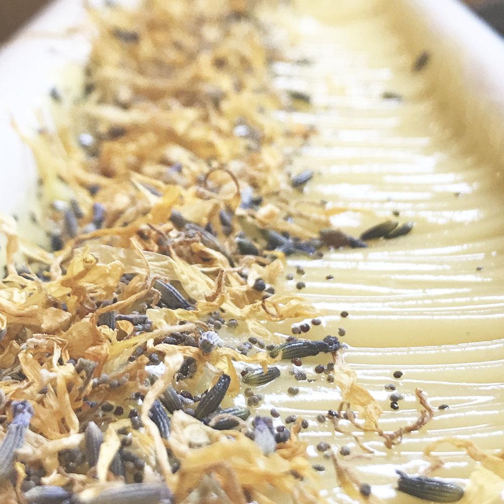 dandelion infused lavender soap