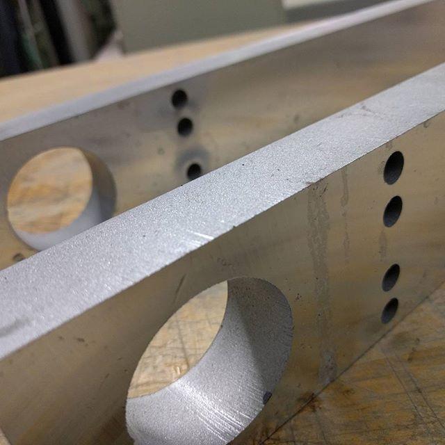 "1"" aluminum block cut. #waterjet #waterjetnj #waterjetcut #hazletnj #aluminum"