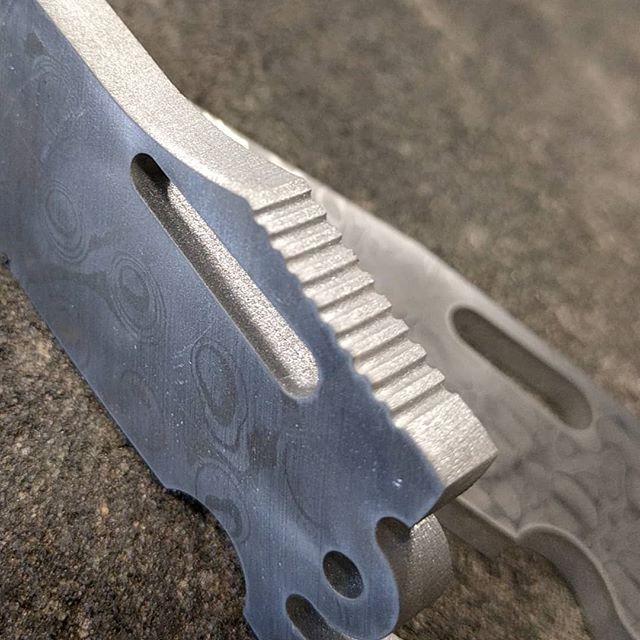 Knife blade jimping 🔪 #knifemaking #knifemaker