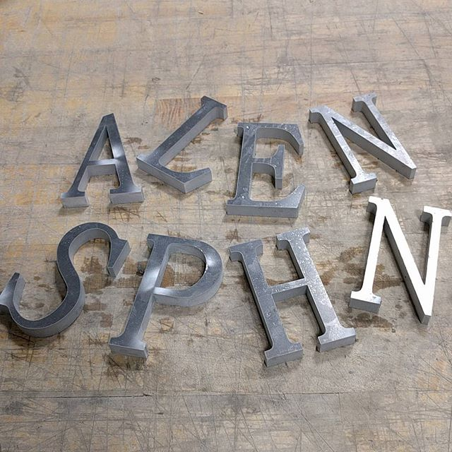 """0.5"""" aluminum letters. #waterjet #waterjetnj #waterjetcut #aluminum #hazletnj #nj #letters"""