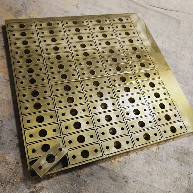 "0.5"" brass brackets. #waterjetnj #waterjet #waterjetcut #hazletnj #nj #brass"