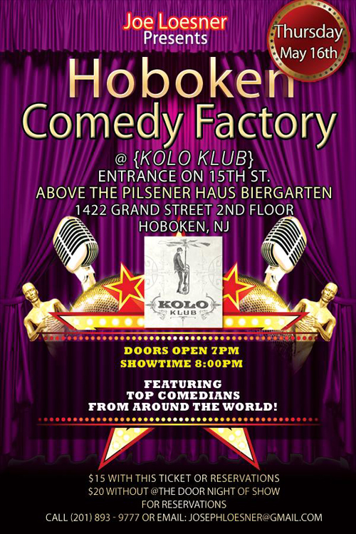 Hoboken Comedy Factory Flyer