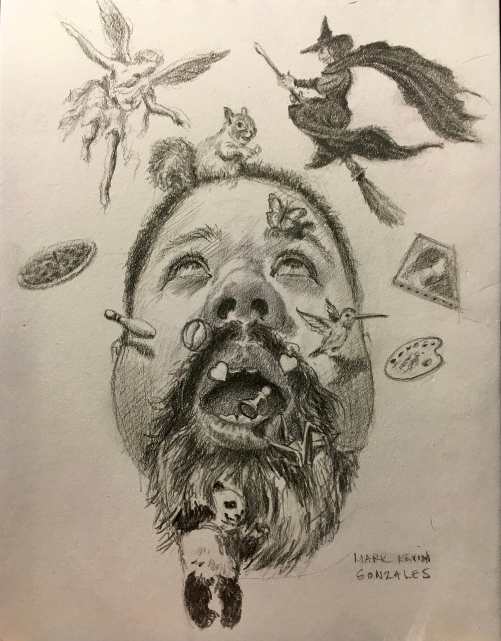 Self Portrait , Graphite